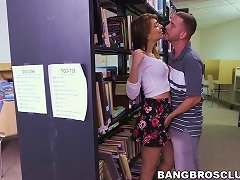 Slender Teen Babe Joseline Kelly Fucked In A Public Library