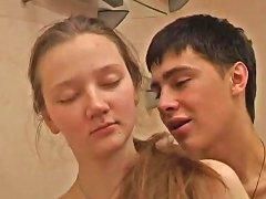 Teen Couple Fucks After Watchting Porn