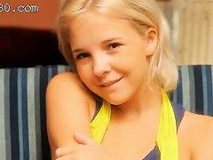 Petite 18yo Blond Teasing Herself